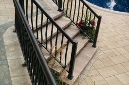 Staircase and Patio in Unistone